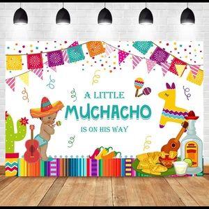 Backdrop Mexican Fiesta Baby Shower
